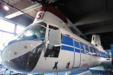 <p>Visitors can also board a&nbsp;Kawasaki-Vertol KV-107 II helicopter</p>