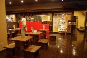 Restaurant at level one ofNobeha no Yu