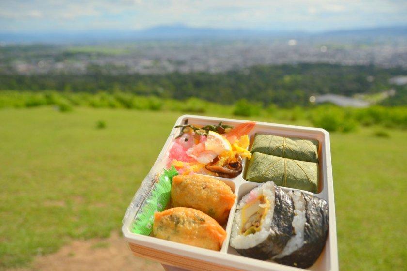 Picnic with a view atMount Wakakusa