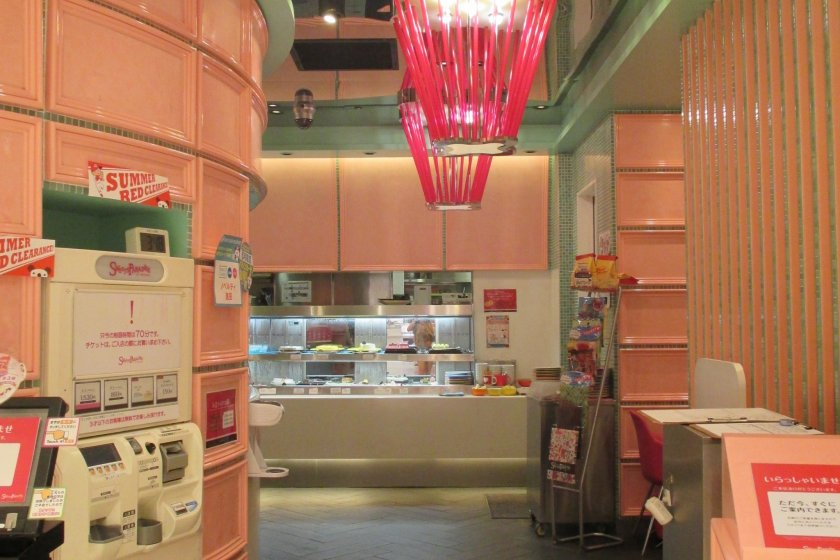 The cute interior design adds to the atmosphere of sweetness