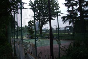 Secluded tennis courts