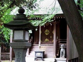 Xem xét kỹ hơn một trong những ngôi đền nhỏ bên trong Đền Kehi Jingu