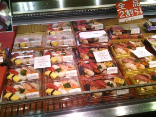 With such fresh fish on offer in the rest of the market, the sushi is bound to be delicious