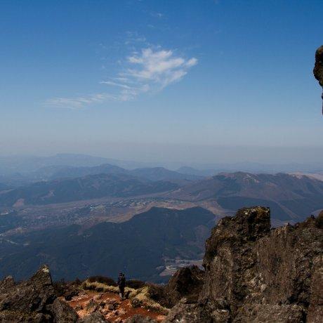 Подъем на гору Юфу в Кюсю
