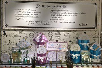 <p>Laline&nbsp;products and their Ten Tips for Good Health!</p>