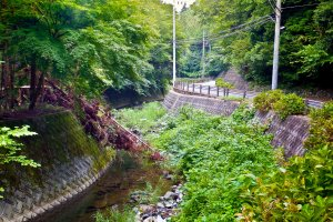 The beginning of the long and winding river found several meters away from Entsuji Temple