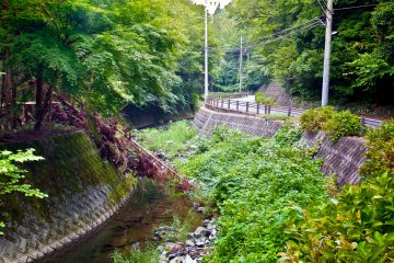<p>The beginning of the long and winding river found several meters away from Entsuji Temple</p>