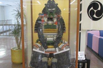 <p>A samurai suit on display</p>
