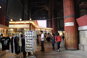<p>Inside Nara&#39;s Todaiji is the world&#39;s largest bronze Buddha. Here is a photo of the corner gift shop. The building is so large that the Goshuin is available inside at the gift shop.</p>
