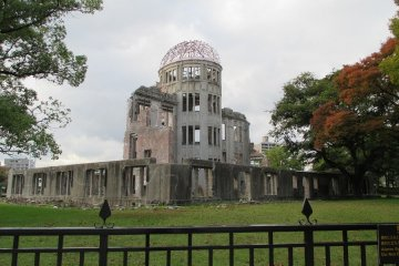 <p>The A-bomb Dome. One of the few remnants from the bomb. It was once the&nbsp;Hiroshima Prefectural Industrial Promotion Hall, now it serves as a grim reminder of the destructive power of the atomic bomb.</p>