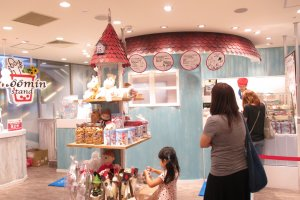 The stand is designed to look like Moomin House