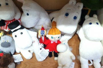 <p>You can find almost all of the Moomin characters, including Mrs.&nbsp;Fillyjonk&nbsp;and the Groke</p>