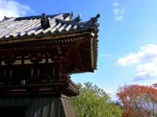 Wonderful Japanese roof tiles on the bell tower!