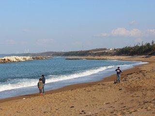 浜地の砂浜