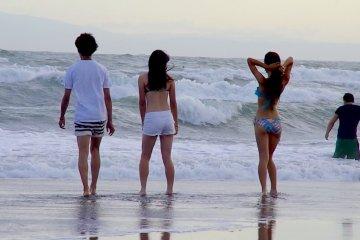 유이가하마 해변을 즐기세요!