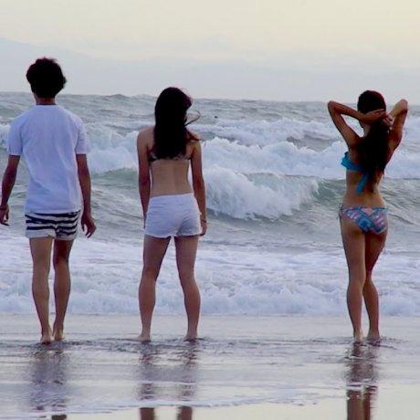 夏の終わりの由比ケ浜ビーチ
