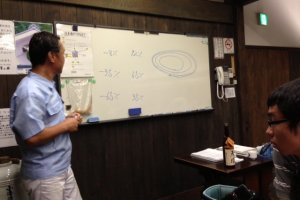 The tour in the brewery usually starts with a short lecture.