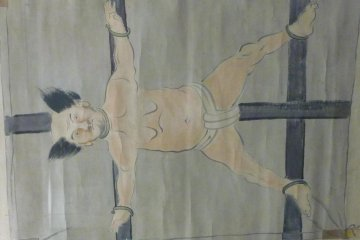 Hanging scroll of Torii Sunaemon, one of the heroes of Nagashino