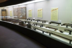 Matchlock guns used in the decisive battle.