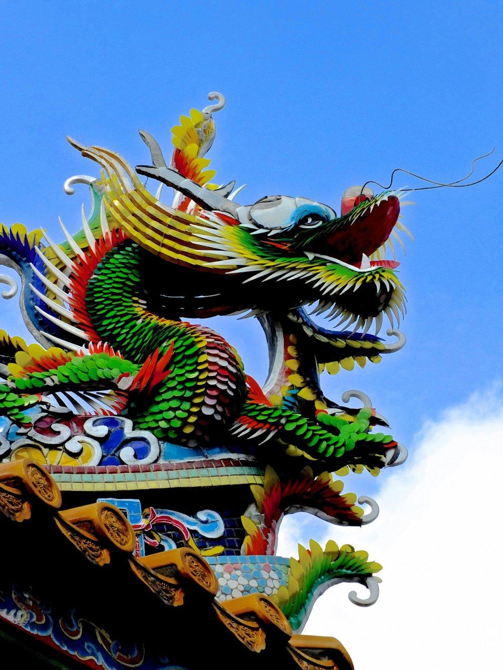Os dragões trazem sorte e proteção na mitologia religiosa chinesa
