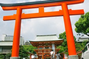 A torii at the entrance