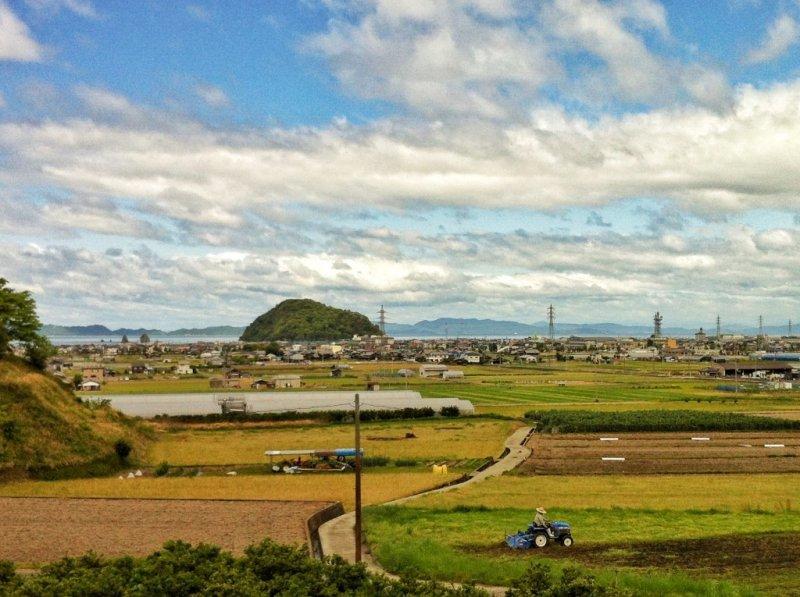 Kashima Island and its rocky satellites dominate the coastline of northern Matsuyama
