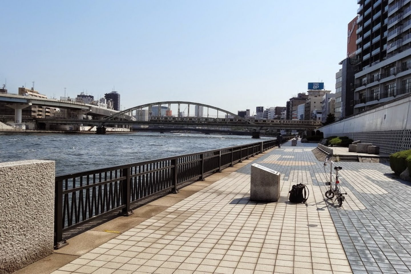 The Sumidagawa Terrace with displays of famous Japanese prints