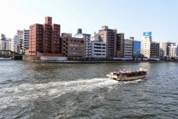 <p>Yanagibashi Bridge from the other side of Sumida River</p>