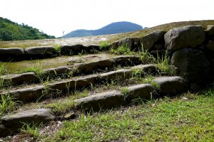 Ruins of Shingen Takeda's fortified residence near Takeda Shrine