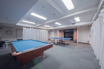<p>Fancy a game of pool or table tennis? Challenge your friends and see who is the master.</p>