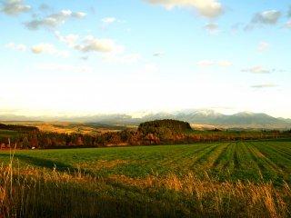 Overlooking Mt. Tokachi from the hills of Biei