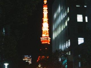 Anda tinggal berjalan lurus dari Stasiun Hamamatsucho menuju Tokyo Tower