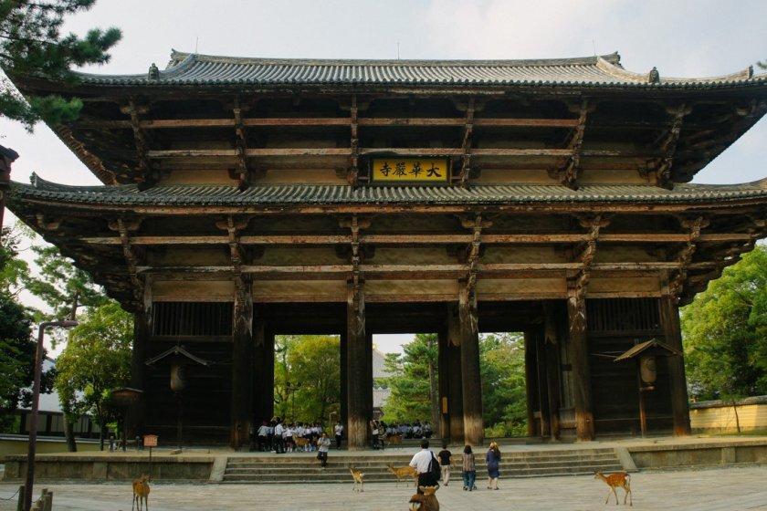 Nandaimon yang megah menyambut setiap pengunjung yang ingin masuk ke Todaiji
