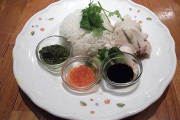 <p>My main dish, Hainan chicken rice</p>