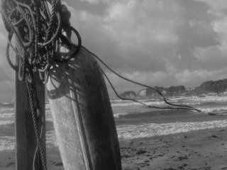 The fishing boats and gear lend to its charm.