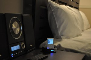 Deluxe room with iPod docking station