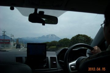 A solemn giant-Mt. Daisen in the distance
