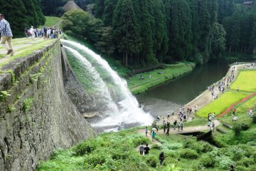 <p>The water is released at noon on weekends and holidays from late spring to late fall</p>