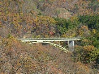 Оттуда открывается красивый вид на мост.