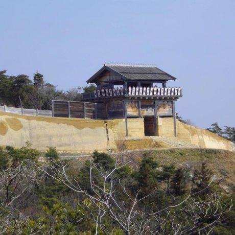 Kinjo Castle Surveying Soja City Below