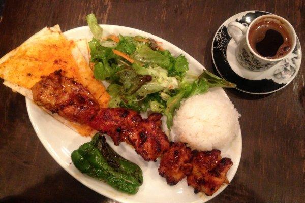 Chicken Sis dan tipikal kopi Turki