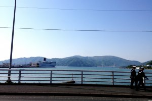 The port city of Maizuru is framed by mountains.