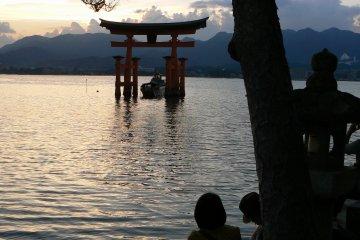 Summer sunset on Miyajima