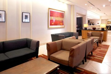 <p>Lobby of the hotel</p>