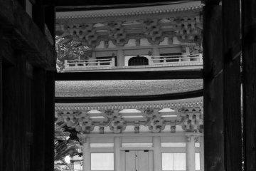 <p>The pagoda, framed</p>