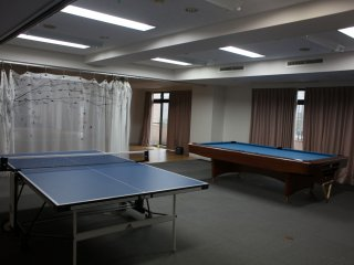 Ping pong table and pool table