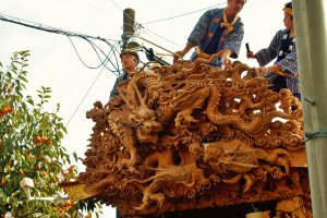 The carvings and detail on each float is amazing