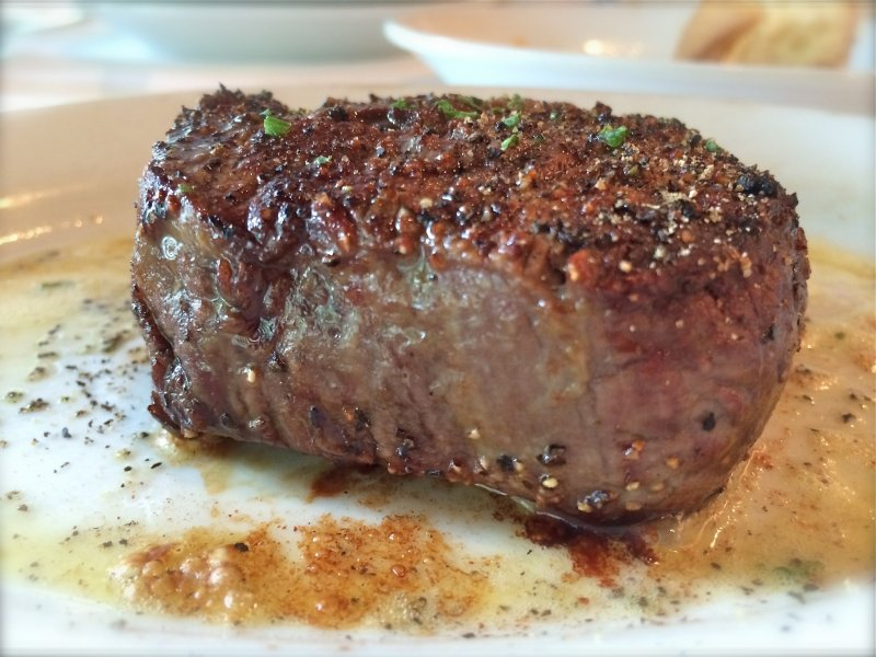 <p>Ruth&#39;s Chris 6oz USDA Prime Beef Filet was out of this world. Can you see the sizzle? Wait till you smell the sizzle!</p>