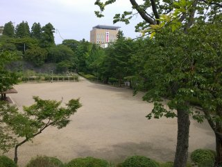 Iwate park, the former site of Iwate castle