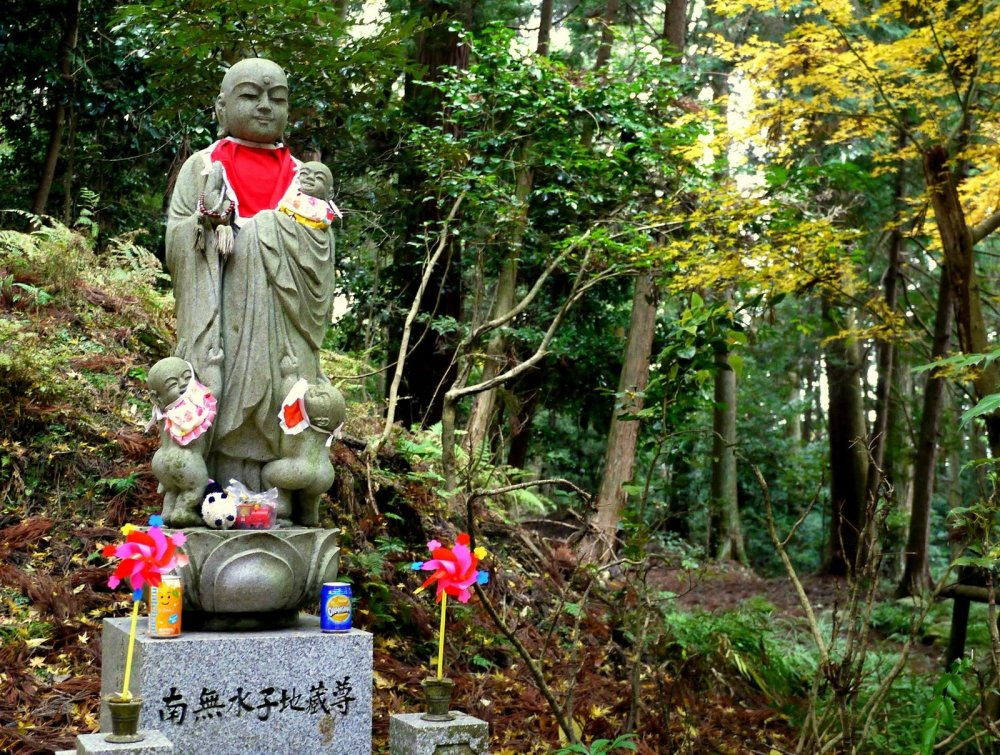 Ojizo is a Buddhist saint who helps children, travelers and firemen